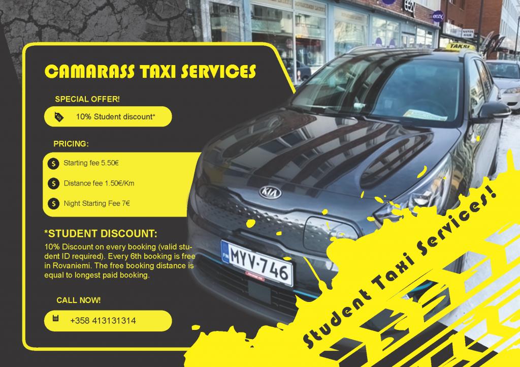 -10 percent taxi offer in Rovaniemi